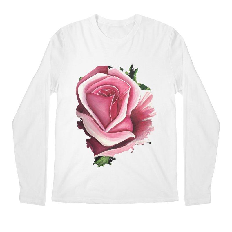 Pink Rose Men's Longsleeve T-Shirt by adamzworld's Artist Shop