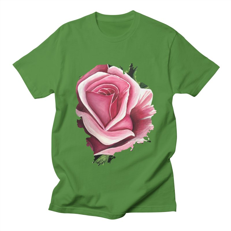 Pink Rose Men's T-Shirt by adamzworld's Artist Shop