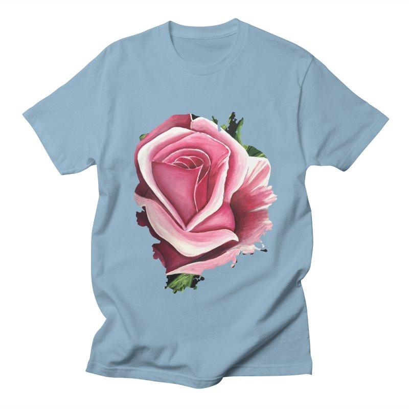 Pink Rose Women's Unisex T-Shirt by adamzworld's Artist Shop