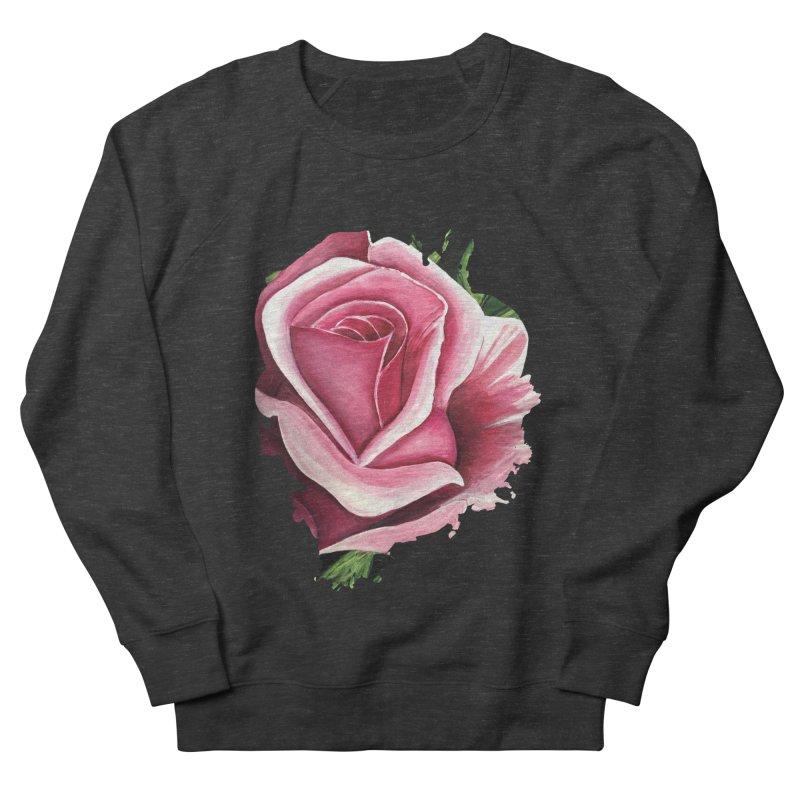 Pink Rose Men's Sweatshirt by adamzworld's Artist Shop