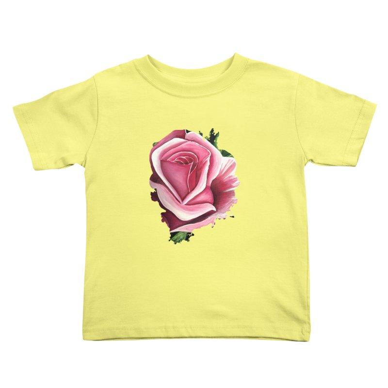 Pink Rose Kids Toddler T-Shirt by adamzworld's Artist Shop
