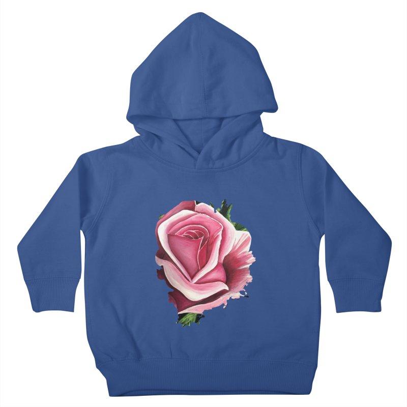 Pink Rose Kids Toddler Pullover Hoody by adamzworld's Artist Shop