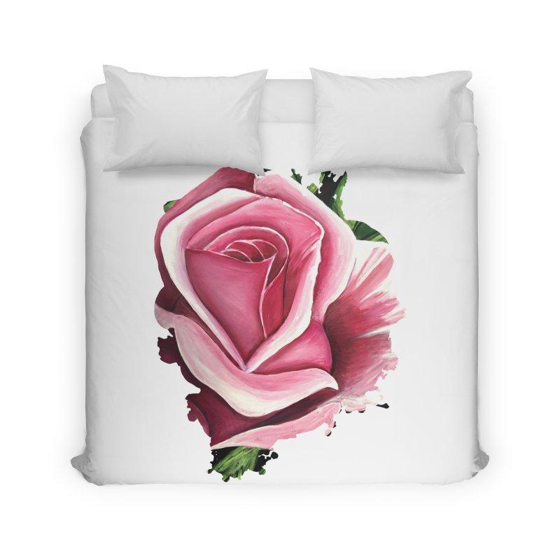 Pink Rose Home Duvet by adamzworld's Artist Shop