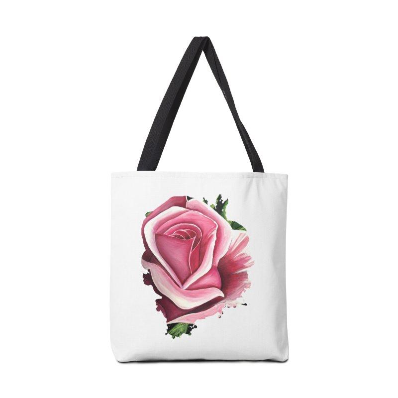 Pink Rose Accessories Bag by adamzworld's Artist Shop