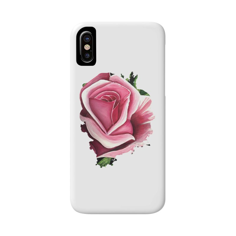 Pink Rose Accessories Phone Case by adamzworld's Artist Shop