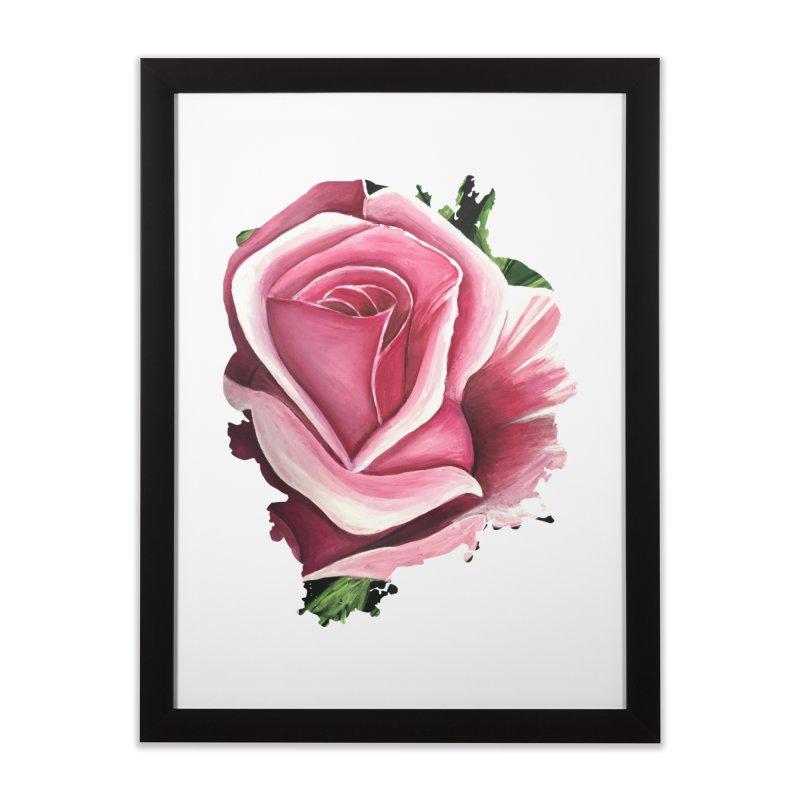 Pink Rose Home Framed Fine Art Print by adamzworld's Artist Shop