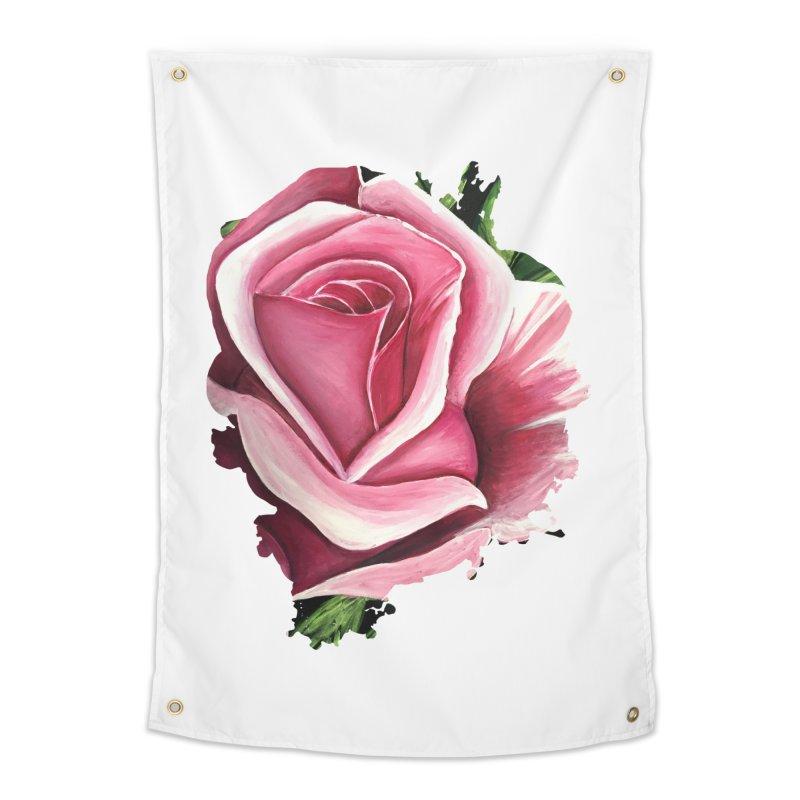 Pink Rose Home Tapestry by adamzworld's Artist Shop