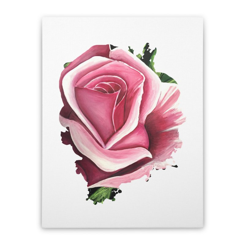 Pink Rose Home Stretched Canvas by adamzworld's Artist Shop