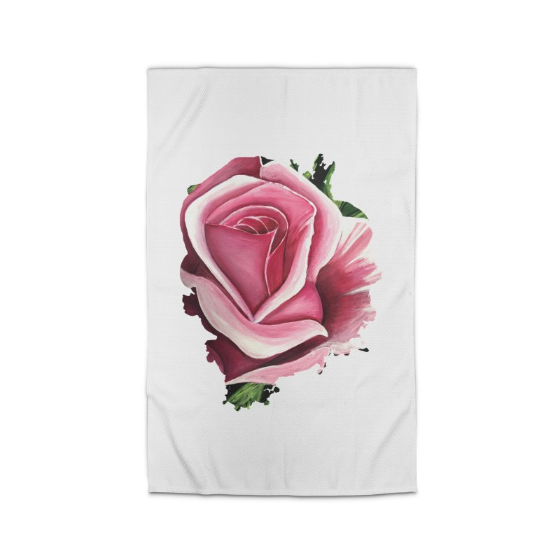 Pink Rose Home Rug by adamzworld's Artist Shop