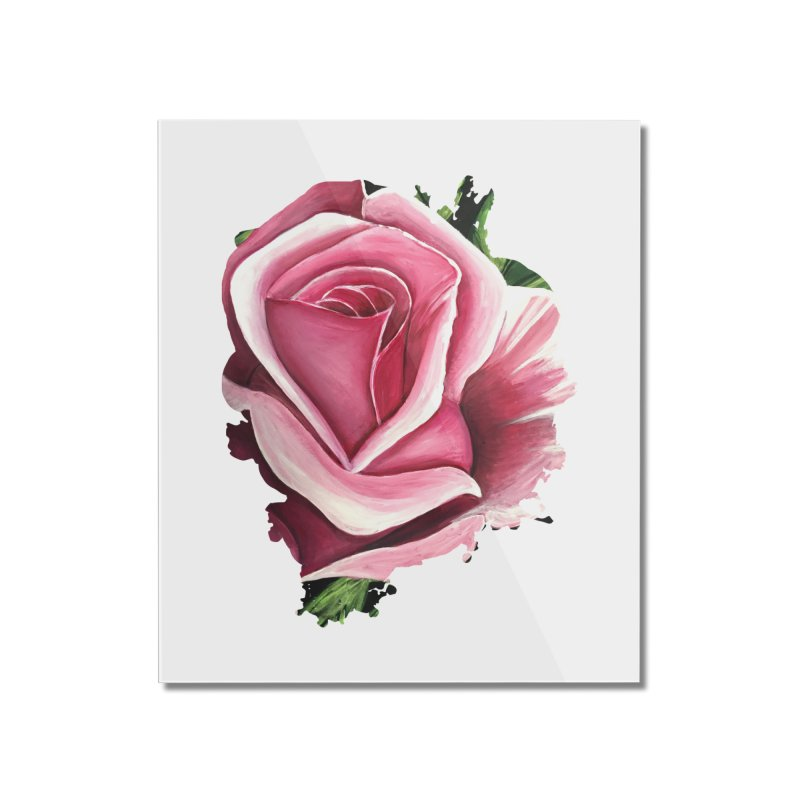 Pink Rose Home Mounted Acrylic Print by adamzworld's Artist Shop