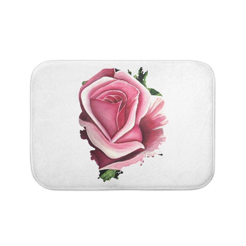 Pink Rose Home Bath Mat by adamzworld's Artist Shop
