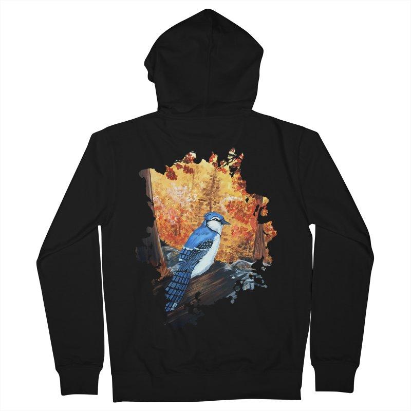 Blue Jay Life Women's Zip-Up Hoody by adamzworld's Artist Shop