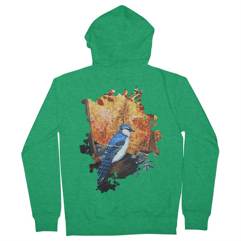 Blue Jay Life Men's Zip-Up Hoody by adamzworld's Artist Shop