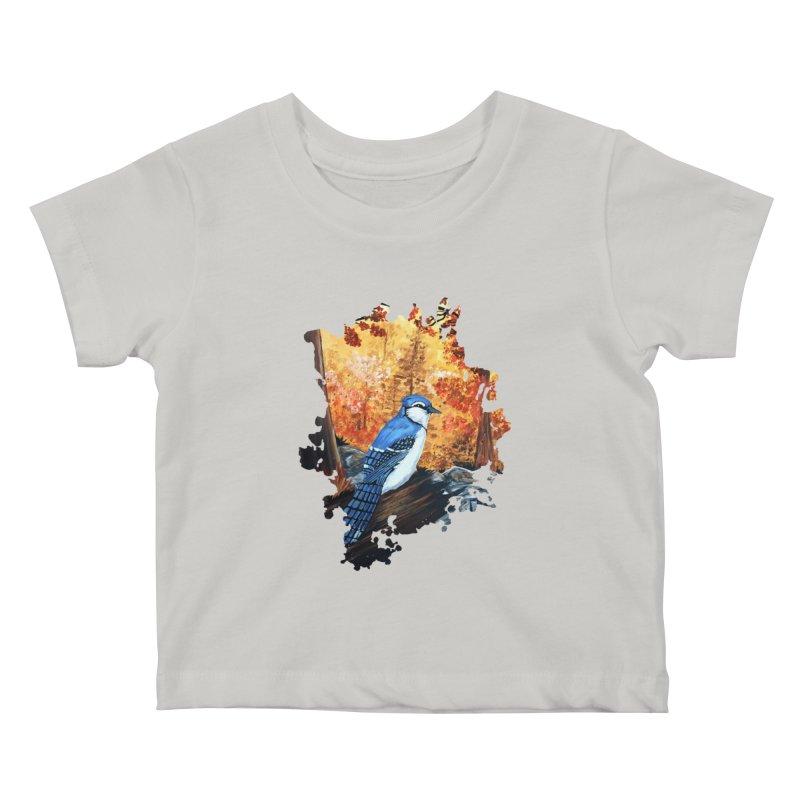 Blue Jay Life Kids Baby T-Shirt by adamzworld's Artist Shop