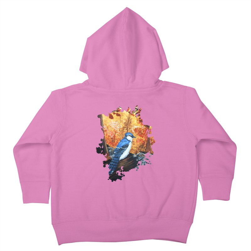Blue Jay Life Kids Toddler Zip-Up Hoody by adamzworld's Artist Shop
