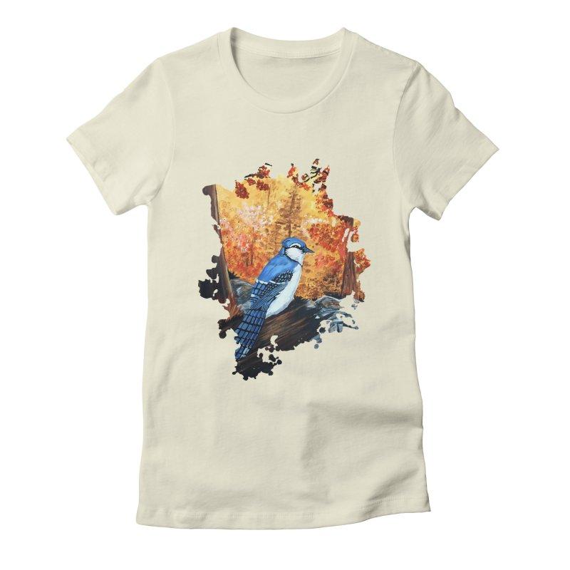 Blue Jay Life Women's Fitted T-Shirt by adamzworld's Artist Shop