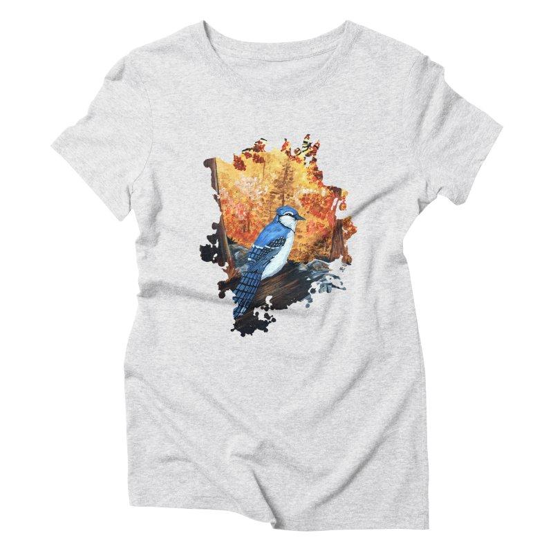 Blue Jay Life Women's Triblend T-Shirt by adamzworld's Artist Shop