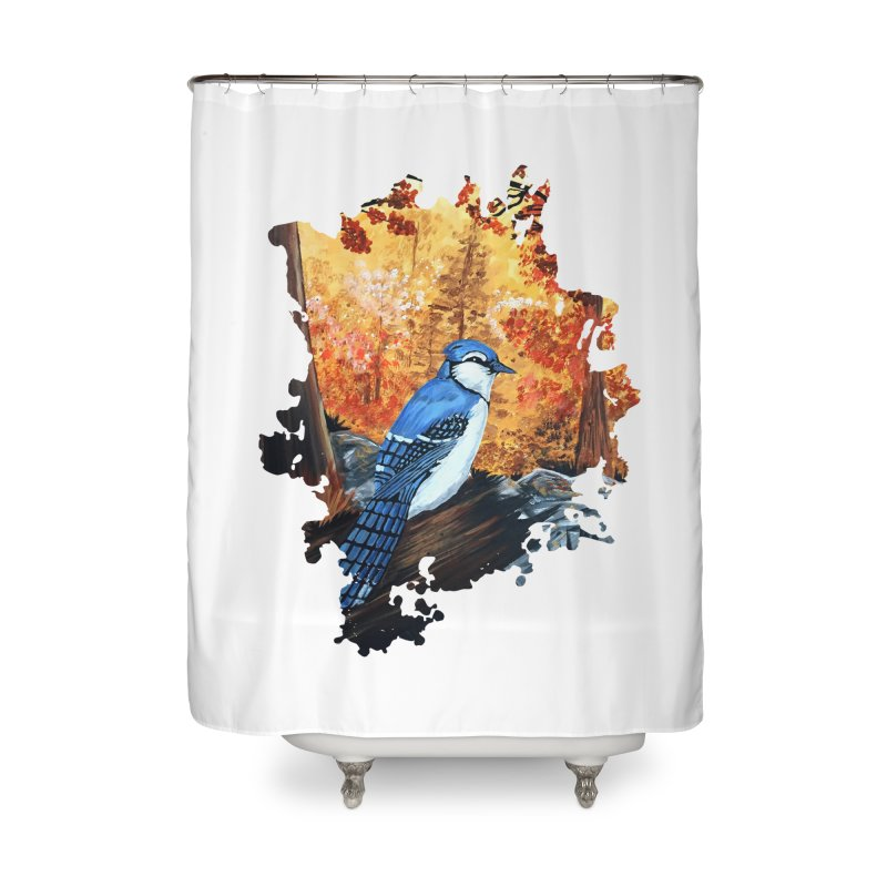 Blue Jay Life Home Shower Curtain by adamzworld's Artist Shop