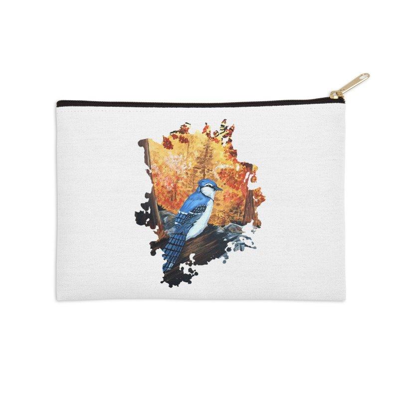 Blue Jay Life Accessories Zip Pouch by adamzworld's Artist Shop