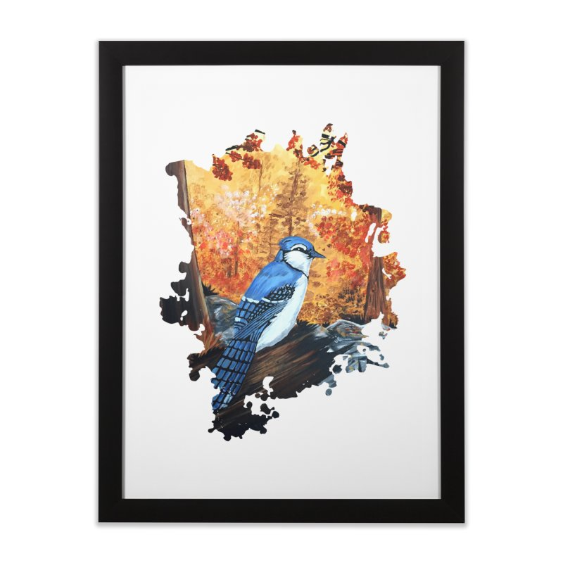 Blue Jay Life Home Framed Fine Art Print by adamzworld's Artist Shop
