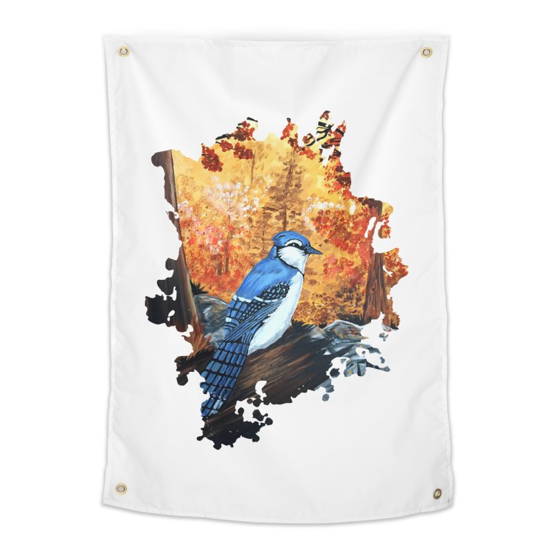 Blue Jay Life Home Tapestry by adamzworld's Artist Shop
