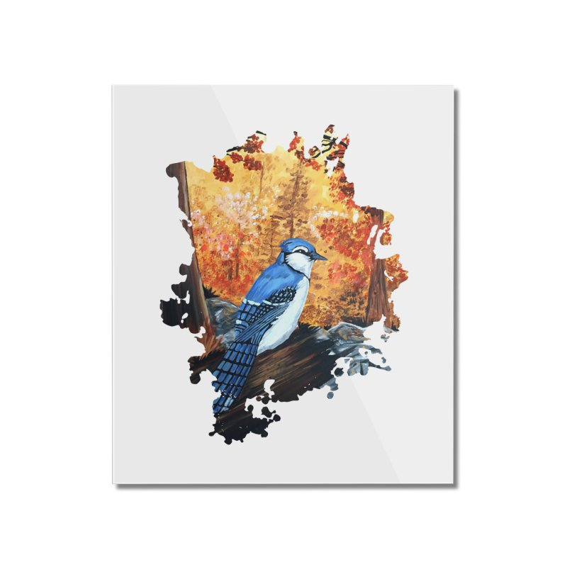 Blue Jay Life Home Mounted Acrylic Print by adamzworld's Artist Shop