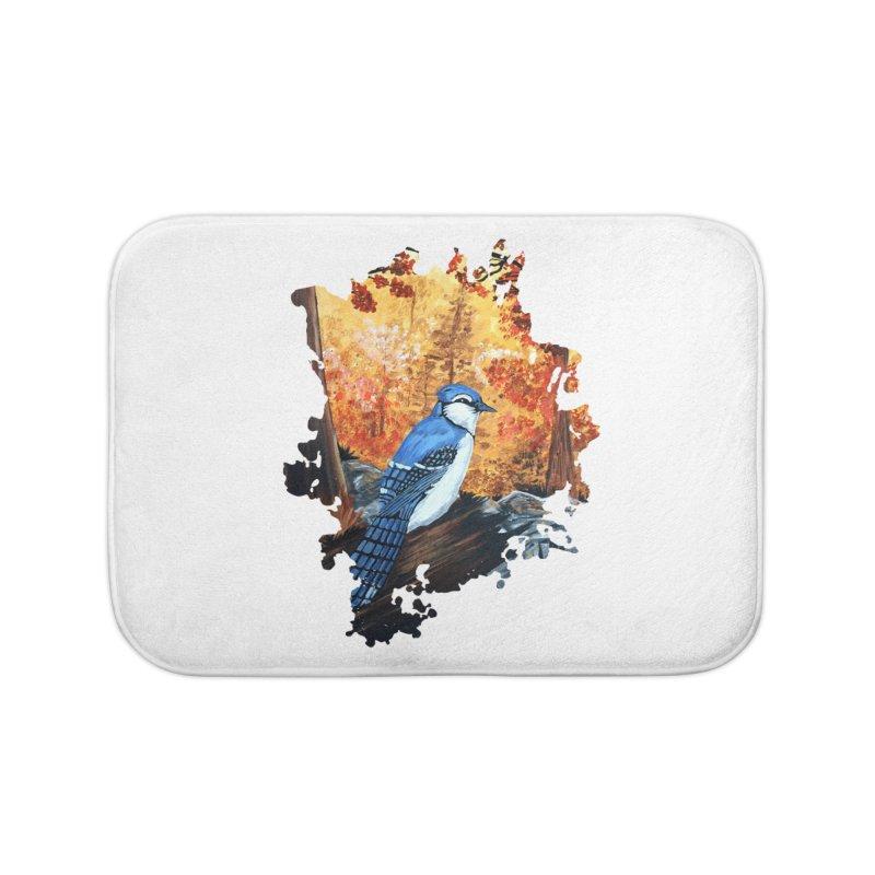 Blue Jay Life Home Bath Mat by adamzworld's Artist Shop