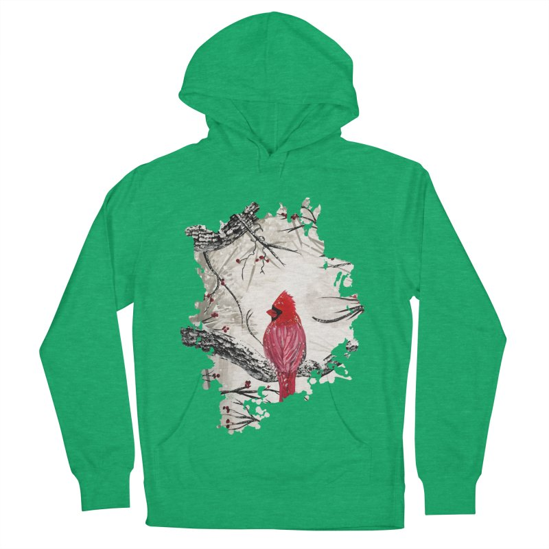 Red Robins Winter Men's Pullover Hoody by adamzworld's Artist Shop