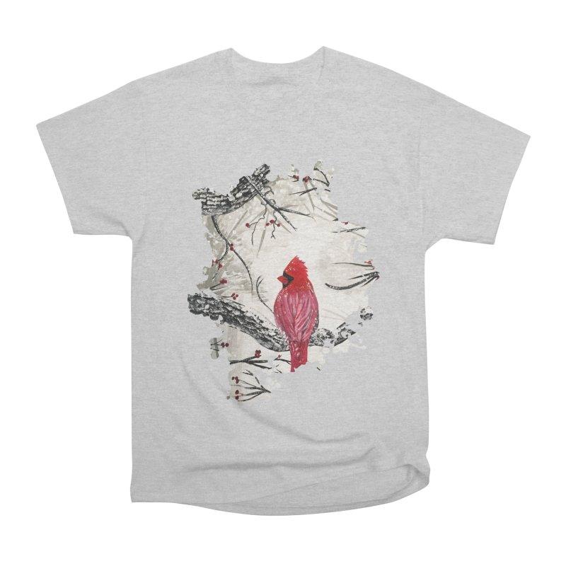 Red Robins Winter Men's Classic T-Shirt by adamzworld's Artist Shop