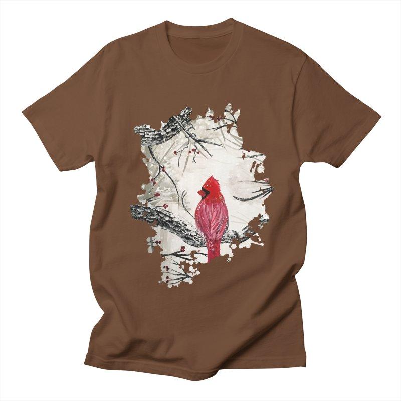 Red Robins Winter Women's Unisex T-Shirt by adamzworld's Artist Shop