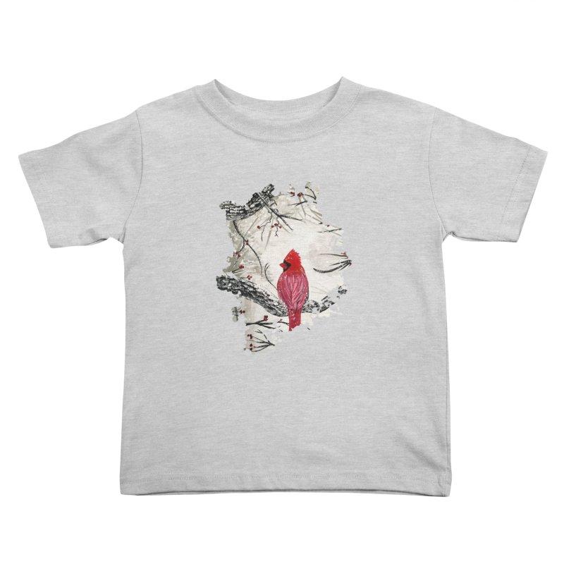 Red Robins Winter Kids Toddler T-Shirt by adamzworld's Artist Shop