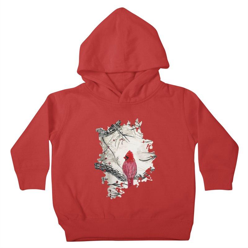 Red Robins Winter Kids Toddler Pullover Hoody by adamzworld's Artist Shop