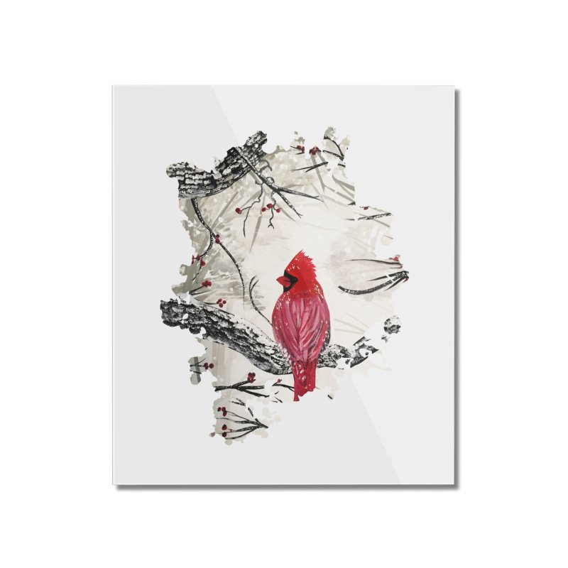 Red Robins Winter Home Mounted Acrylic Print by adamzworld's Artist Shop