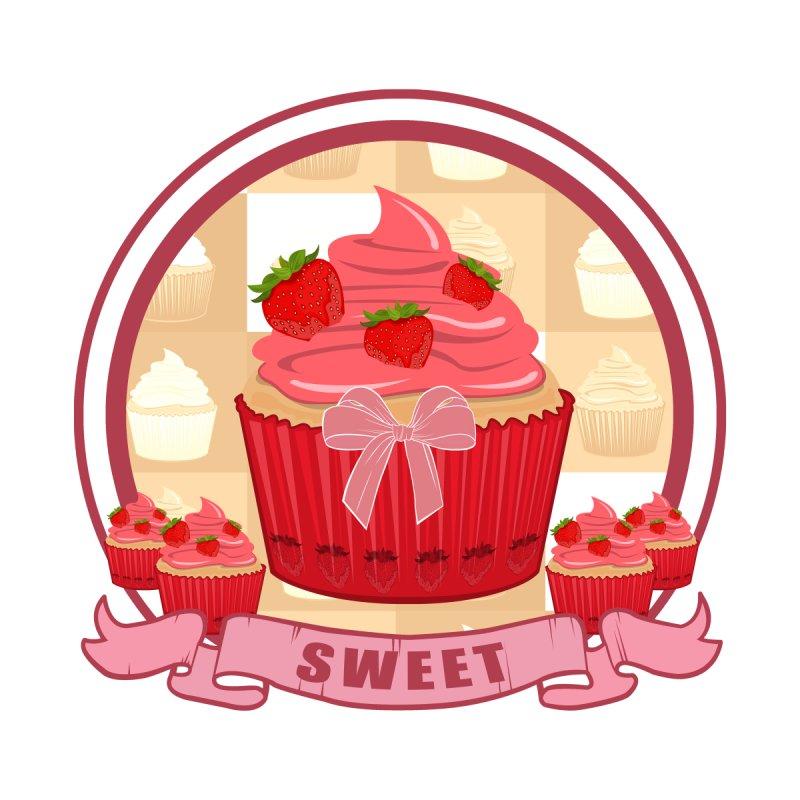 Sweet Strawberry Cupcake by adamzworld's Artist Shop