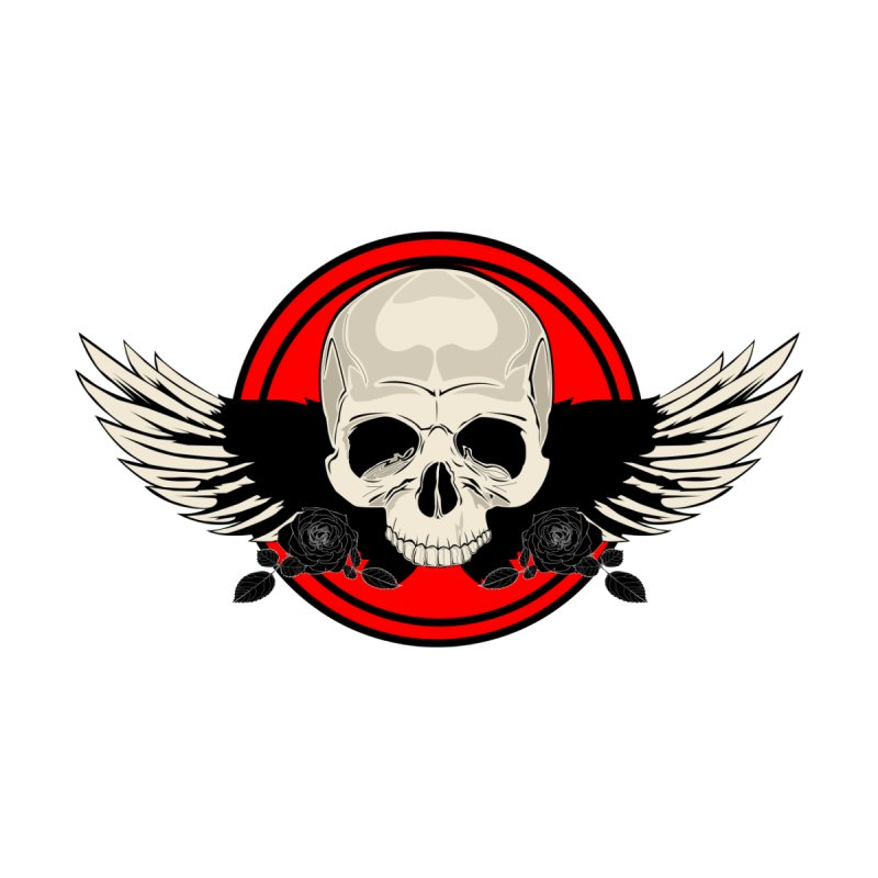 Wing Skull - RED None  by adamzworld's Artist Shop