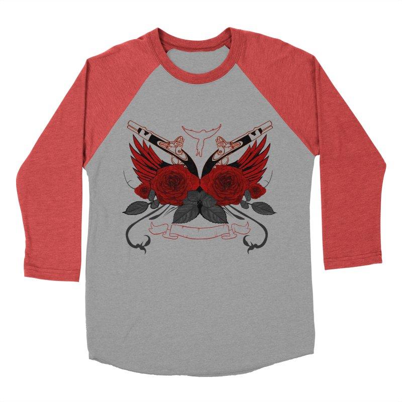 Guns and Roses RED Women's Baseball Triblend T-Shirt by adamzworld's Artist Shop