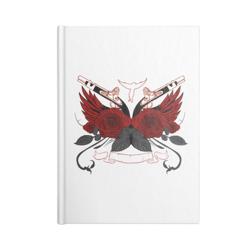 Guns and Roses RED Accessories Notebook by adamzworld's Artist Shop