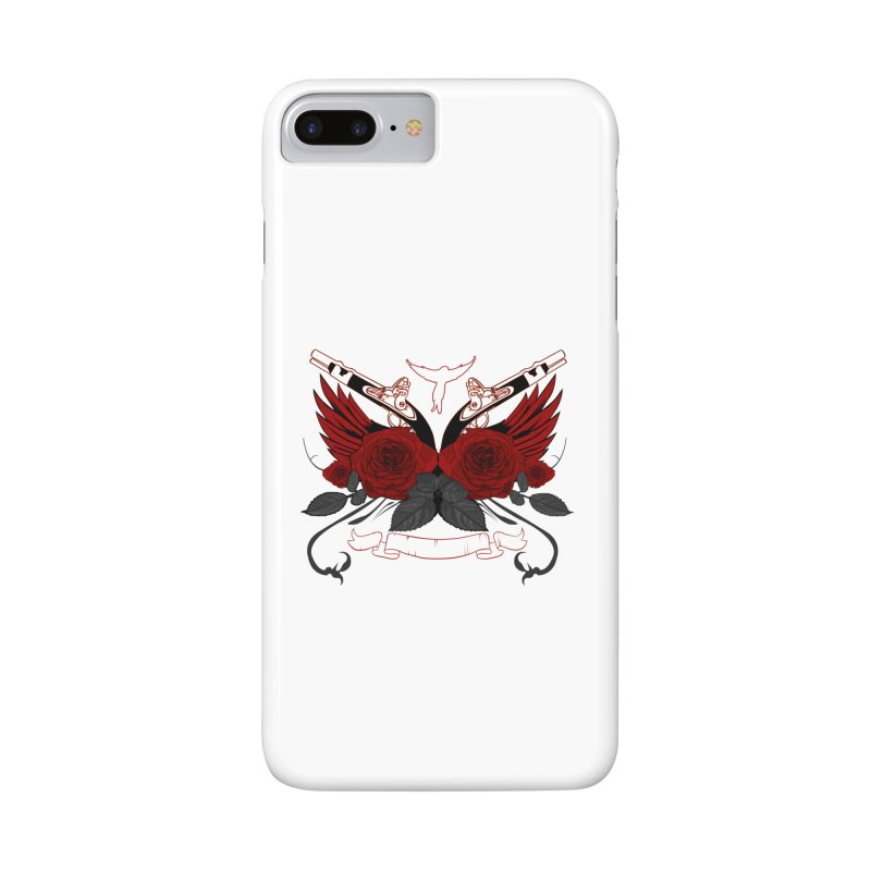 Guns and Roses RED Accessories Phone Case by adamzworld's Artist Shop