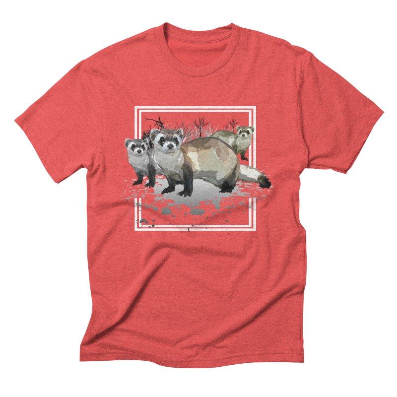 Ferrets Men's Triblend T-shirt by adamzworld's Artist Shop
