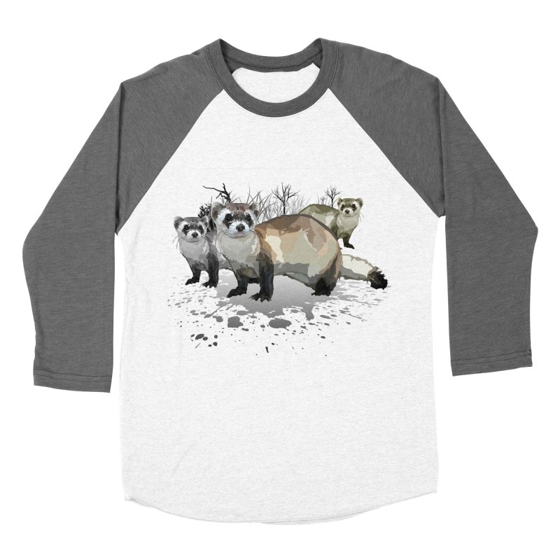 Ferrets Women's Baseball Triblend T-Shirt by adamzworld's Artist Shop