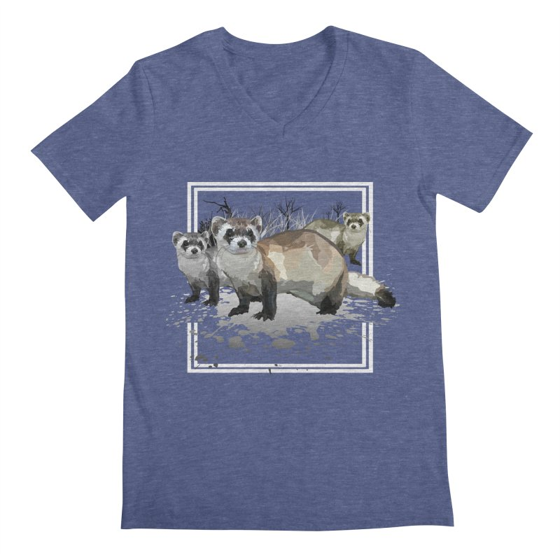 Ferrets Men's V-Neck by adamzworld's Artist Shop