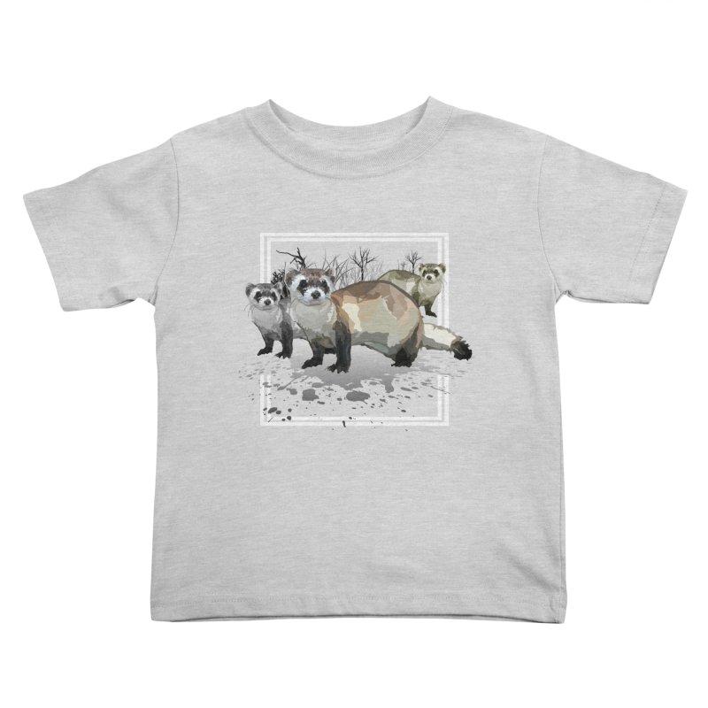 Ferrets Kids Toddler T-Shirt by adamzworld's Artist Shop