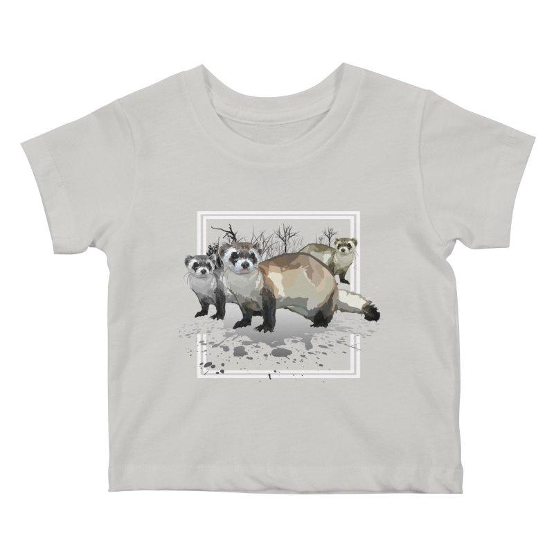 Ferrets Kids Baby T-Shirt by adamzworld's Artist Shop