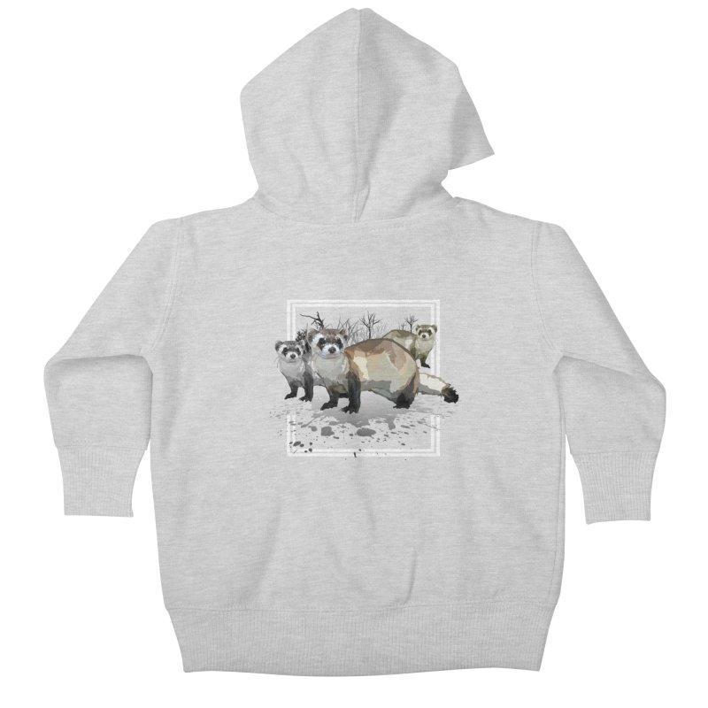 Ferrets Kids Baby Zip-Up Hoody by adamzworld's Artist Shop