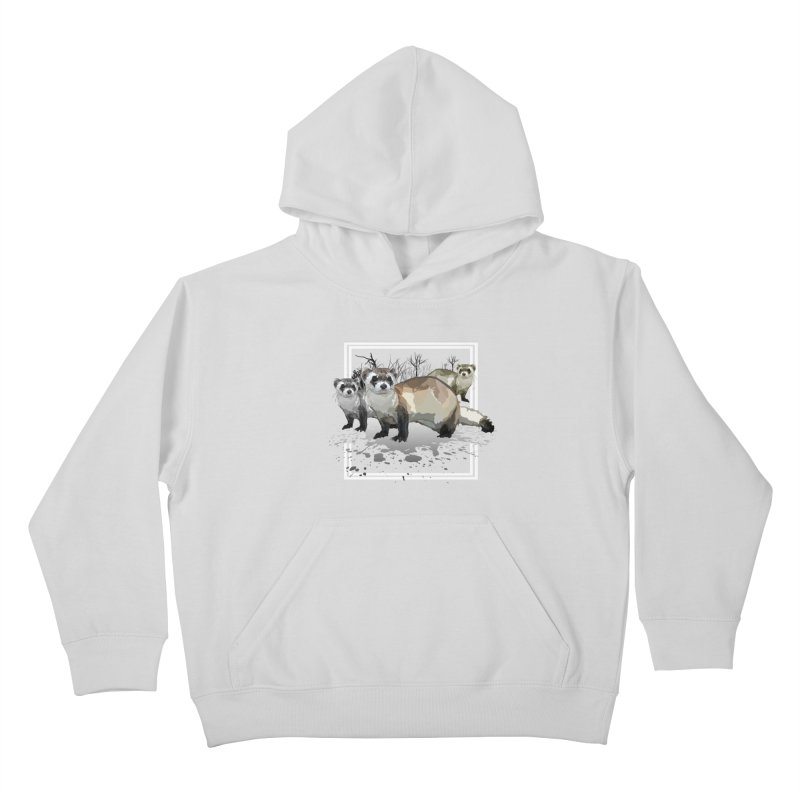 Ferrets Kids Pullover Hoody by adamzworld's Artist Shop