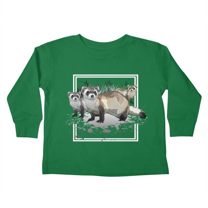 Ferrets Kids Toddler Longsleeve T-Shirt by adamzworld's Artist Shop