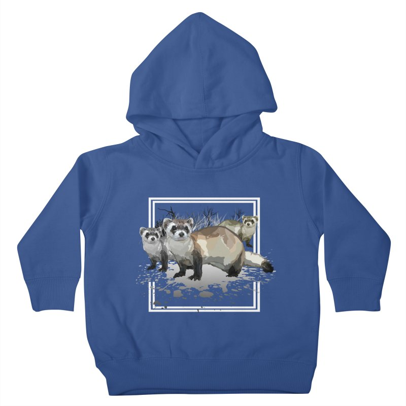 Ferrets Kids Toddler Pullover Hoody by adamzworld's Artist Shop