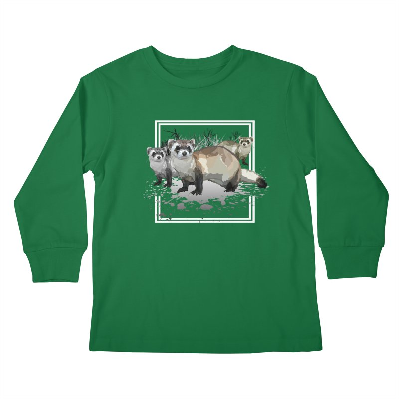 Ferrets Kids Longsleeve T-Shirt by adamzworld's Artist Shop