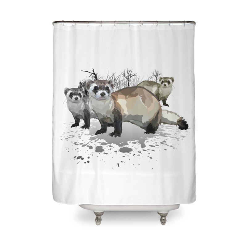 Ferrets Home Shower Curtain by adamzworld's Artist Shop