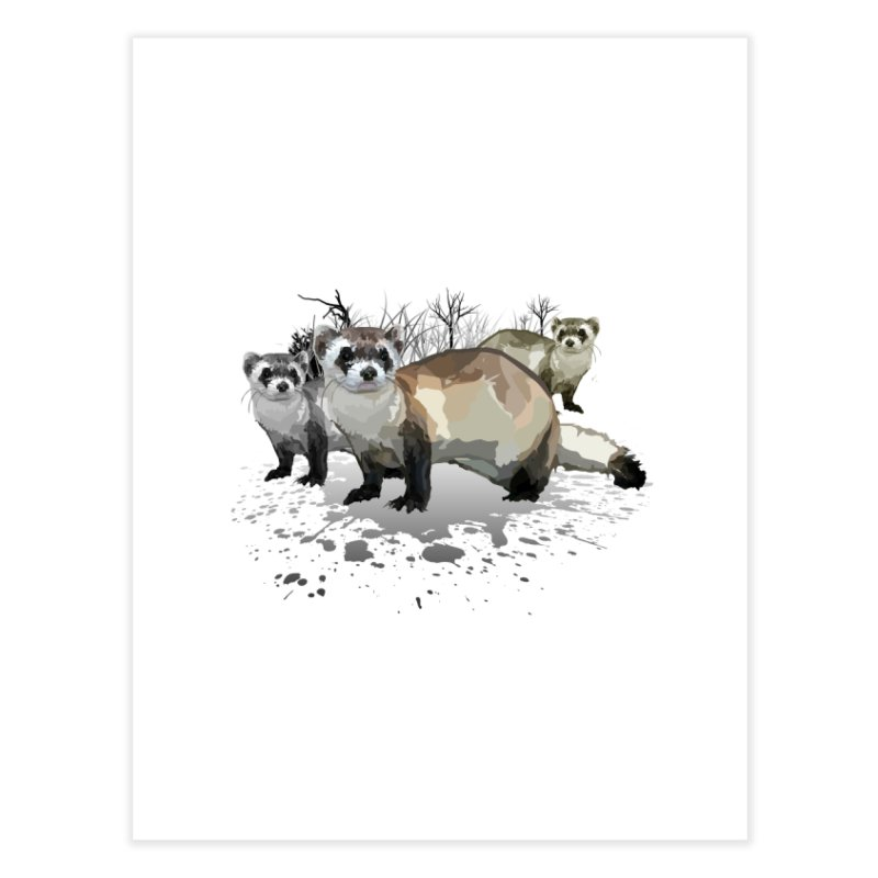 Ferrets Home Fine Art Print by adamzworld's Artist Shop